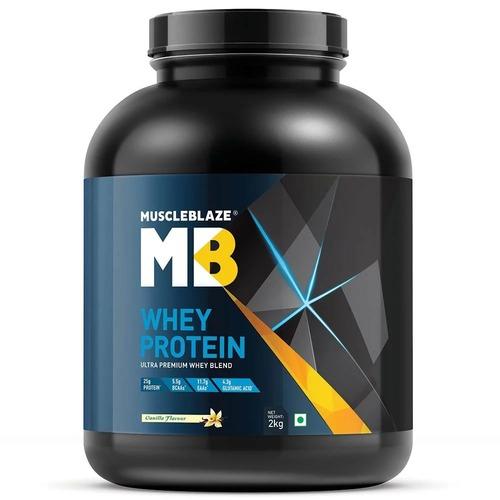 MuscleBlaze Whey Protein, 4.4 lb (2kg)Vanilla