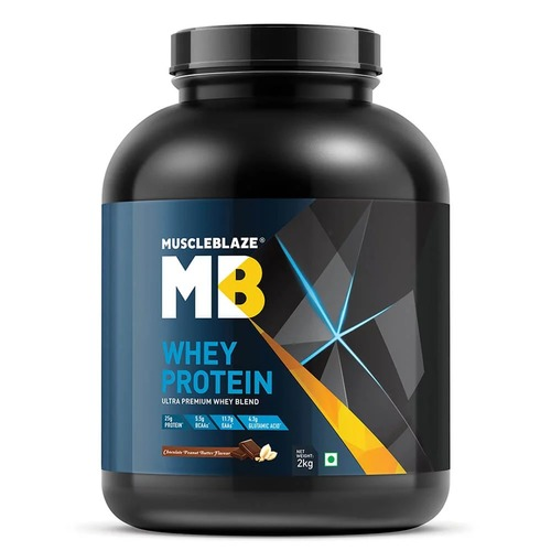 MuscleBlaze Whey Protein, 4.4 lb(2kg) Chocolate Peanut Butter