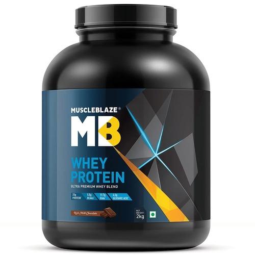 MuscleBlaze Whey Protein, 4.4 lb(2kg) Rich Milk Chocolate