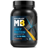 MuscleBlaze Whey Protein, 2.2 lb (1kg)Rich Milk Chocolate