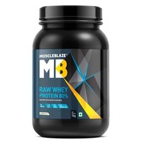 MuscleBlaze Raw Whey Protein, 2.2 lb(1kg) Unflavoured