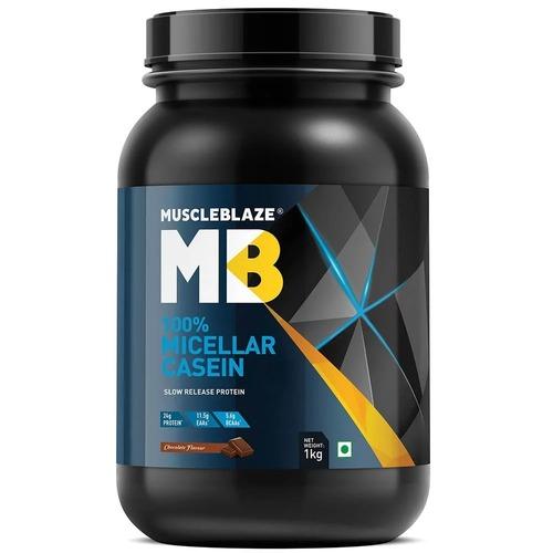 MuscleBlaze 100% Micellar Casein, 2.2 lb(1kg) Chocolate