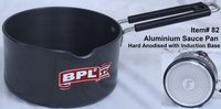 Aluminium Sauce Pan Hard Anodised with Induction Base