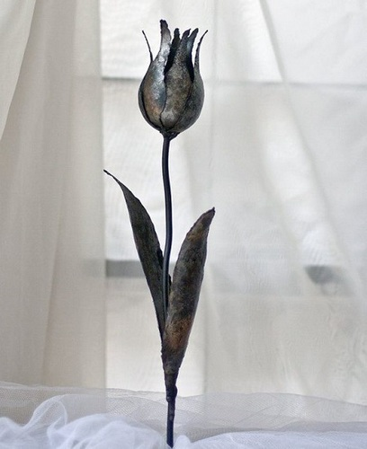 Tulip Steel Flower Metal Artwork Yard Sculpture