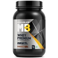 MuscleBlaze Whey Premium, 2.2 lb(1kg) Rich Milk Chocolate