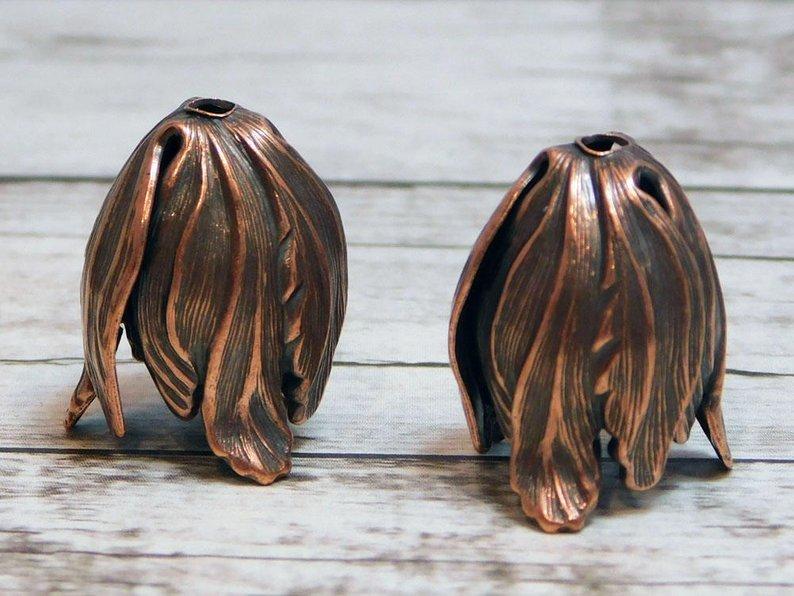 Brass Tulip Bead Cap