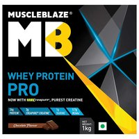 MuscleBlaze Whey Protein Pro with Creapure, 2.2 lb (1kg)Chocolate