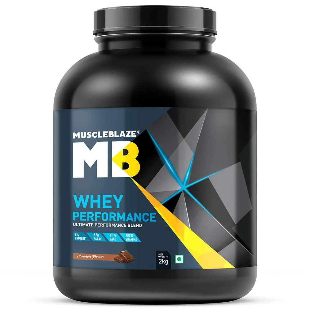 MuscleBlaze Whey Performance (70%) Protein, 4.4 lb(2kg) Chocolate