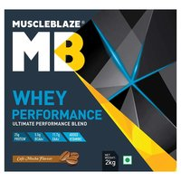 MuscleBlaze Whey Performance (70%) Protein, 4.4 lb(2kg) Cafe Mocha