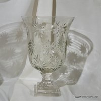 Clear Glass Hurricane For Candle