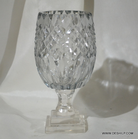 Crystal Glass Hurricane Candle