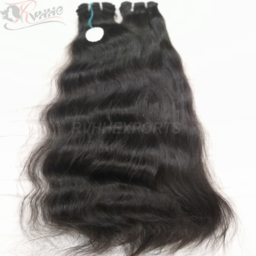 Cheap Natural Black Double Drawn Weft Hair