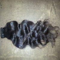 Cheap Natural Black Double Drawn Weft Hair