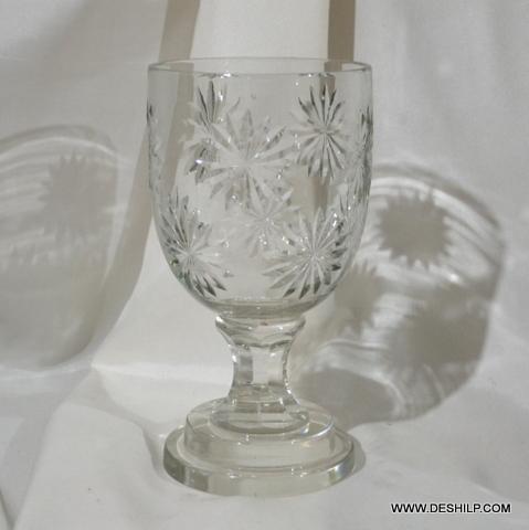Crystal Cutting Glass Candle Hurricane