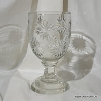 Crystal Cutting Glass Candle Hurricane