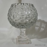 Crystal Glass Small Candle Holder