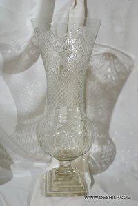 Cutting Glass Crystal Shape Hurricane Candle