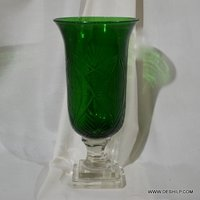 Colorful Glass Hurricane Candle Holder