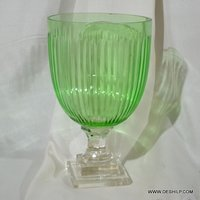 Parrot Color Glass Hurricane Candle