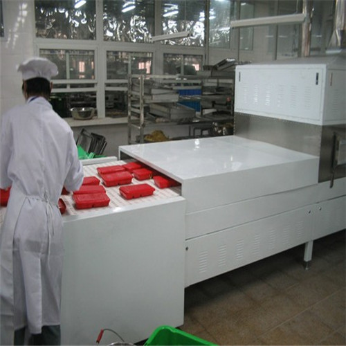 Continuous Microwave Ready Meal Heating Machine