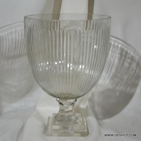 Cutting Glass Hurricane Candle