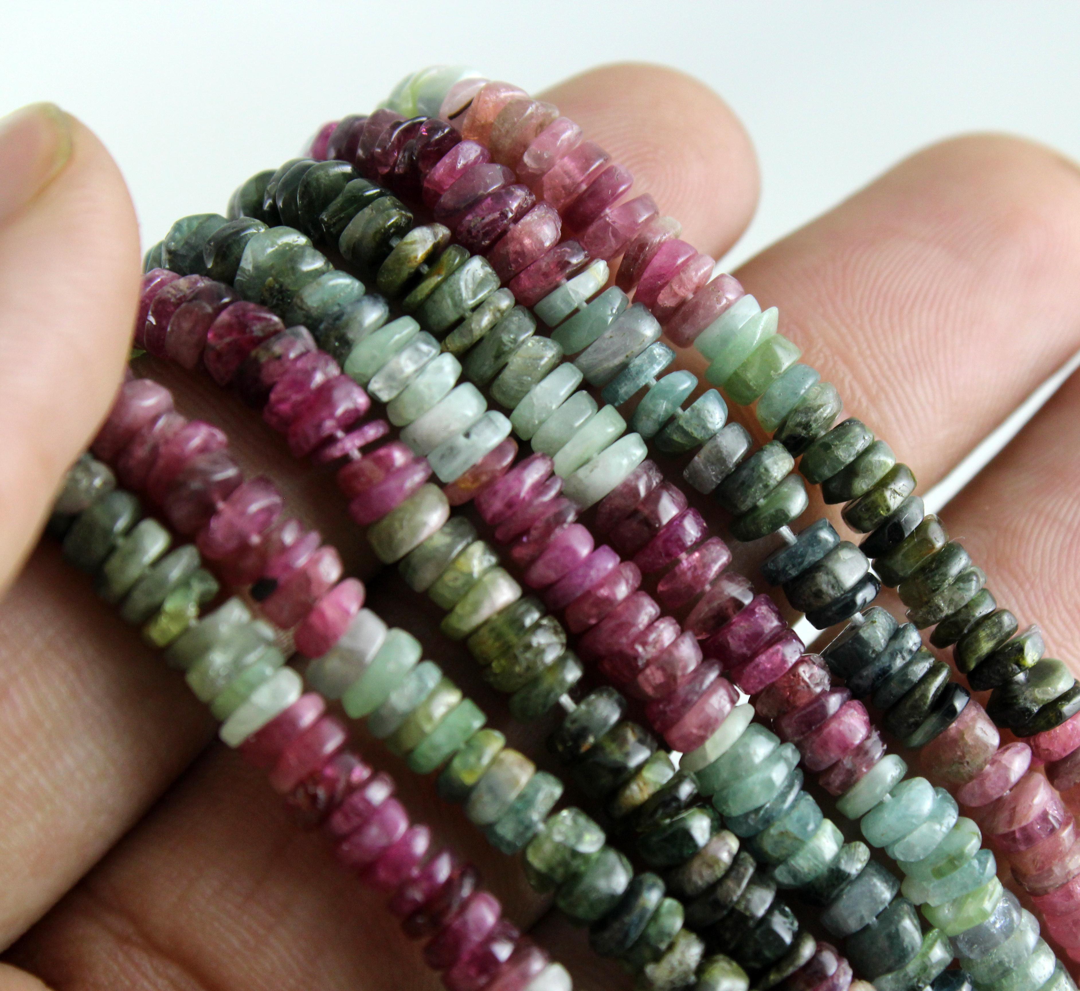 Tourmaline Tyre Beads