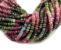 Multi Tourmaline Faceted Beads