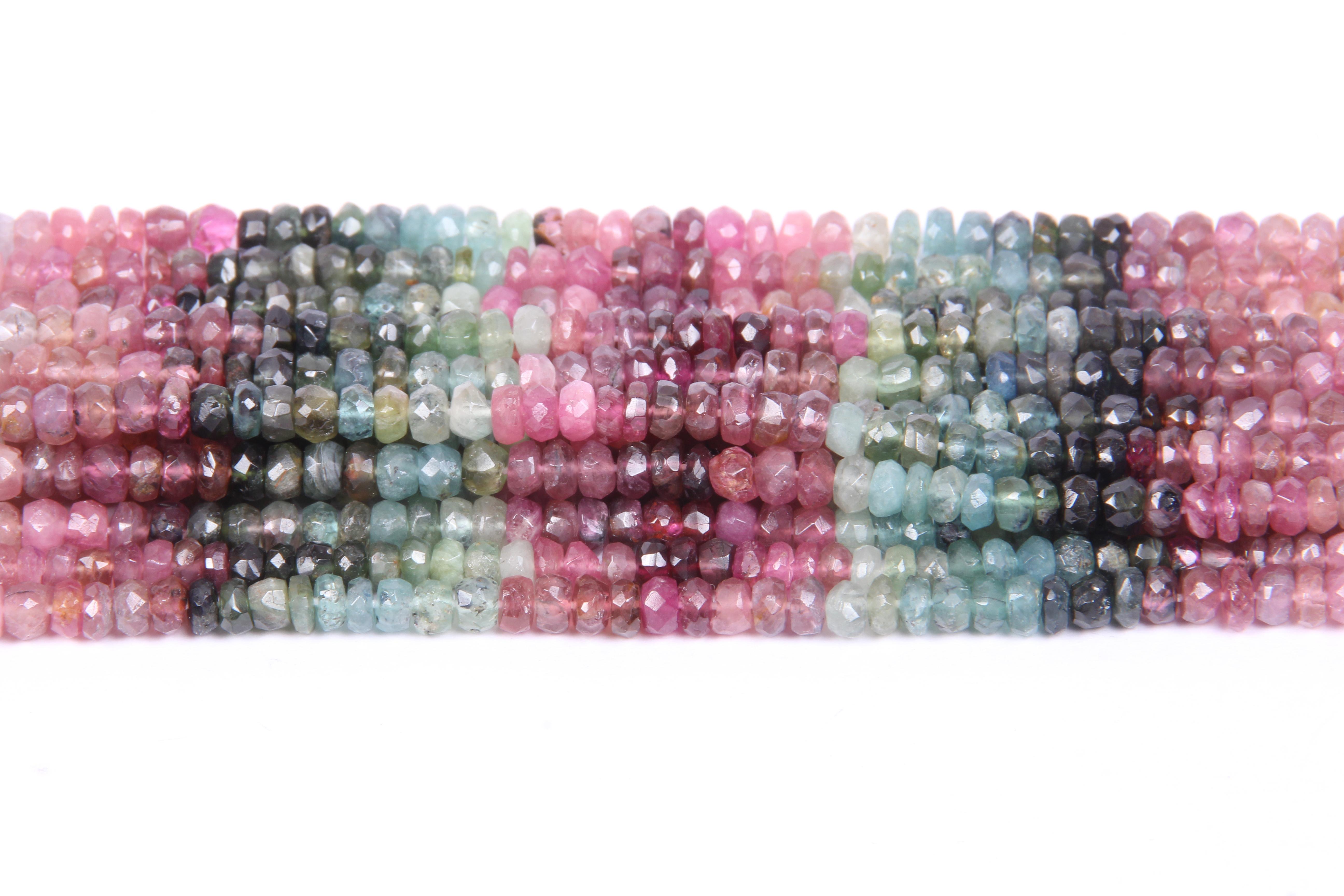 Tourmaline Roundel Beads