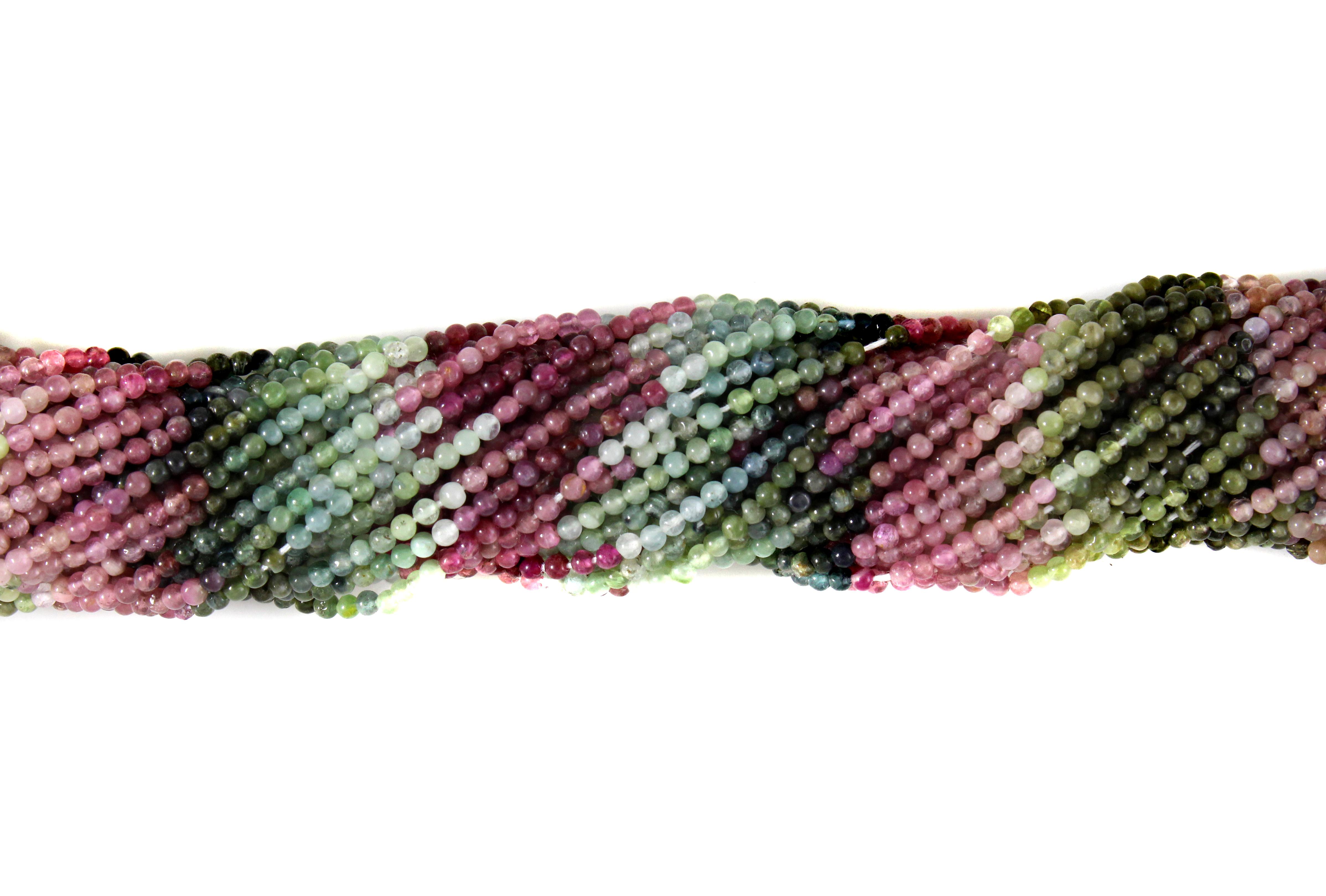 Tourmaline Plain Beads