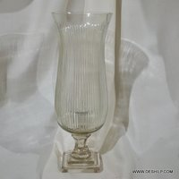 Crystal Cutting Glass Floor Hurricane Candle