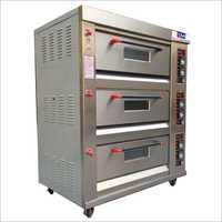 3 Deck 6 Trays Gas Oven