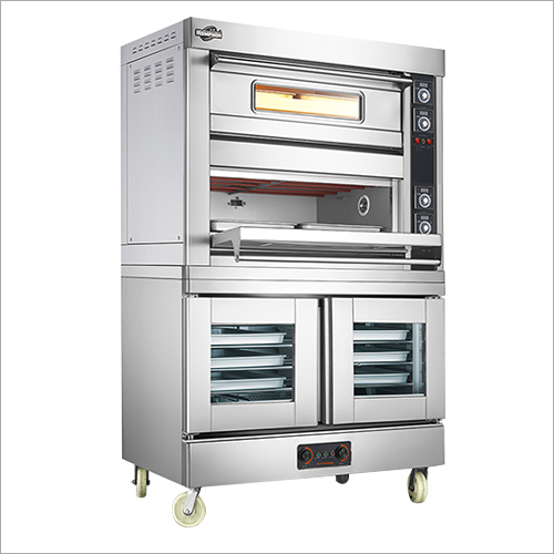 Electric Oven with Proofer 2 Deck 4 Trays