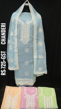 Ladies Chanderi Suit