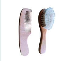 Wooden Baby Hair Brush And Comb Set