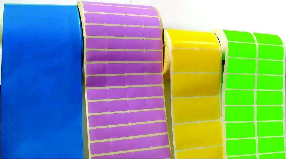 Multi Coloured Barcode Label