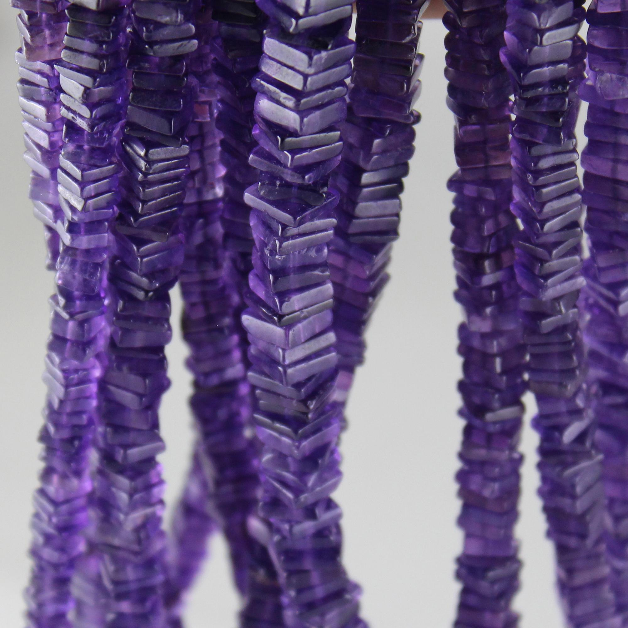 Amethyst Square Beads