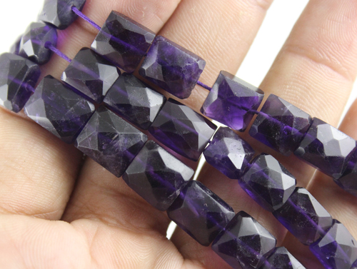 Amethyst Chicklet Beads