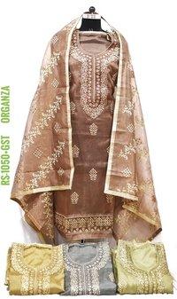 Designer Organza Fabric Suit