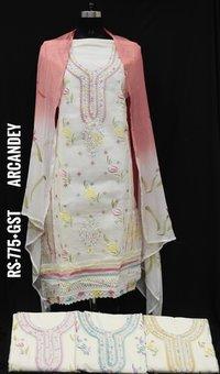 Designer Organdy Fabric Suit