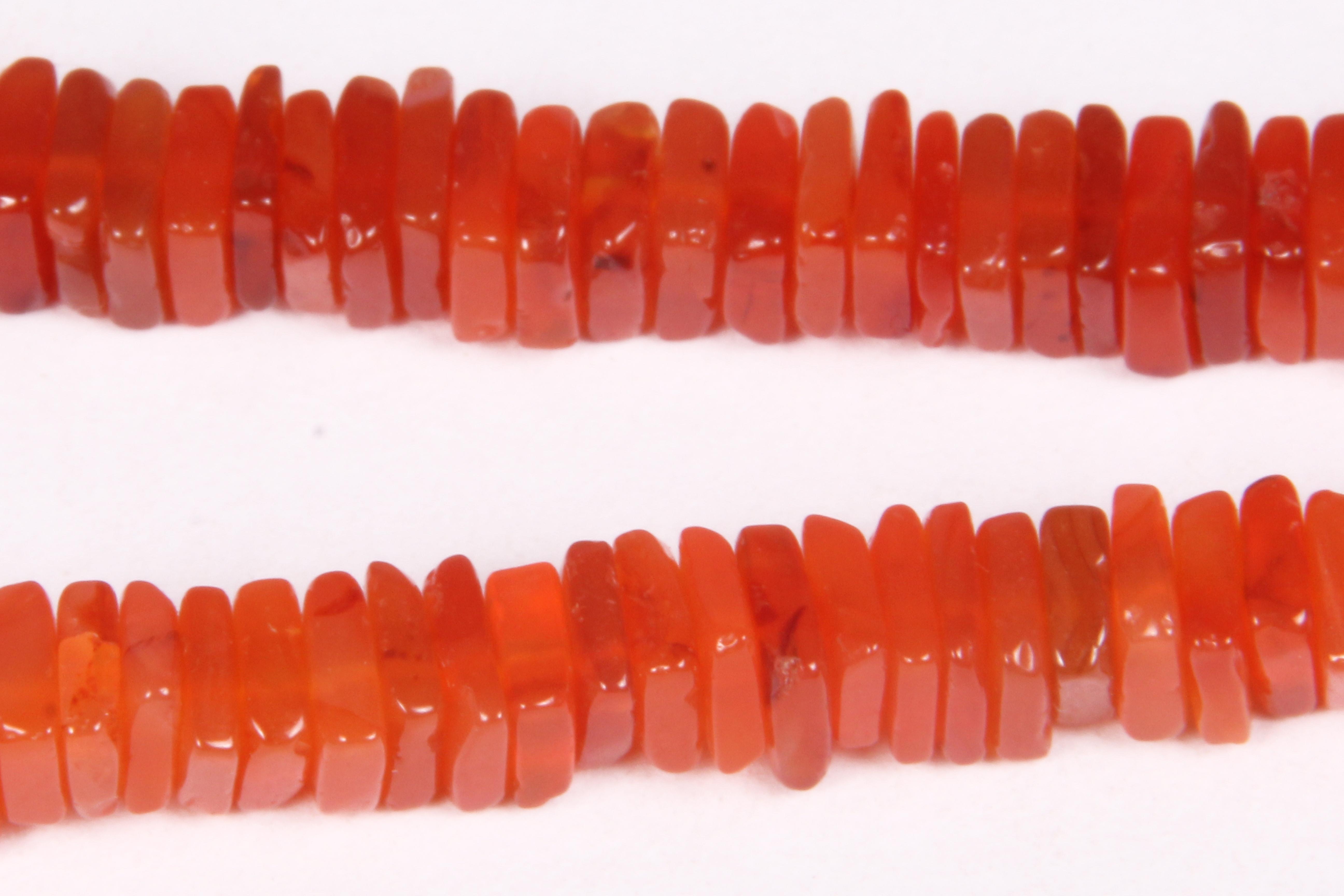Carnelian Square Beads