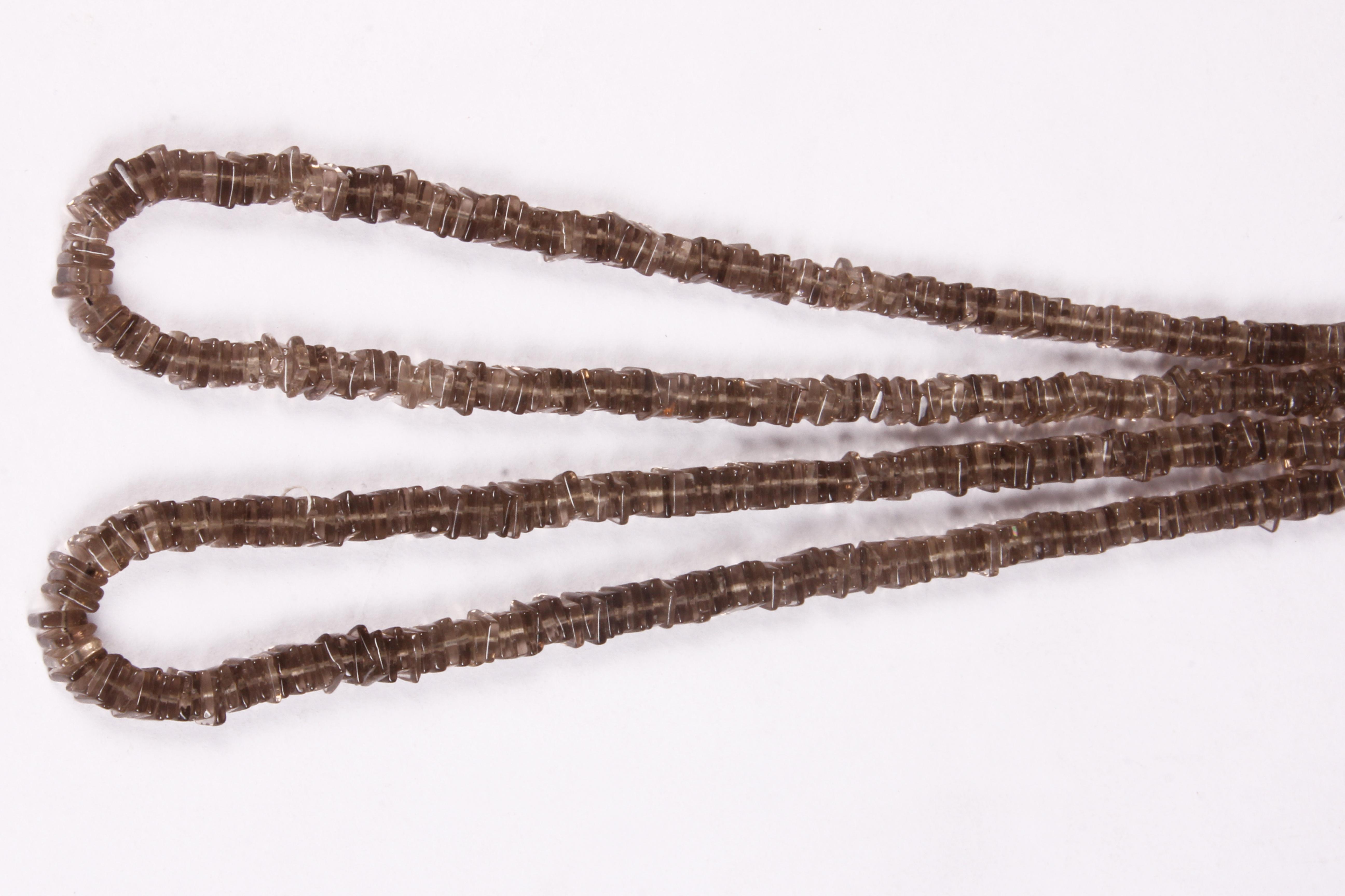Smoky Quartz Chowki Beads