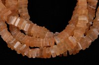 Peach Moonstone Square Beads