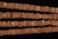 Peach Moonstone Square Beads