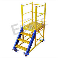 Fibre Glass Heavy Duty Maintenance Trolley Ladder