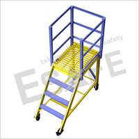 Fibre Glass Maintenance Trolley Ladder