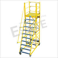 Fibre Glass Platform Trolley Ladder