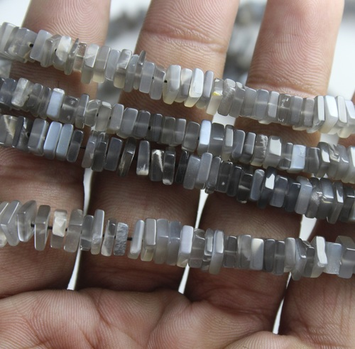 Grey Moonstone Chowki Beads
