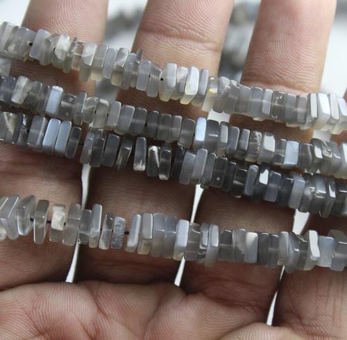 Grey Moonstone Chowki Beads