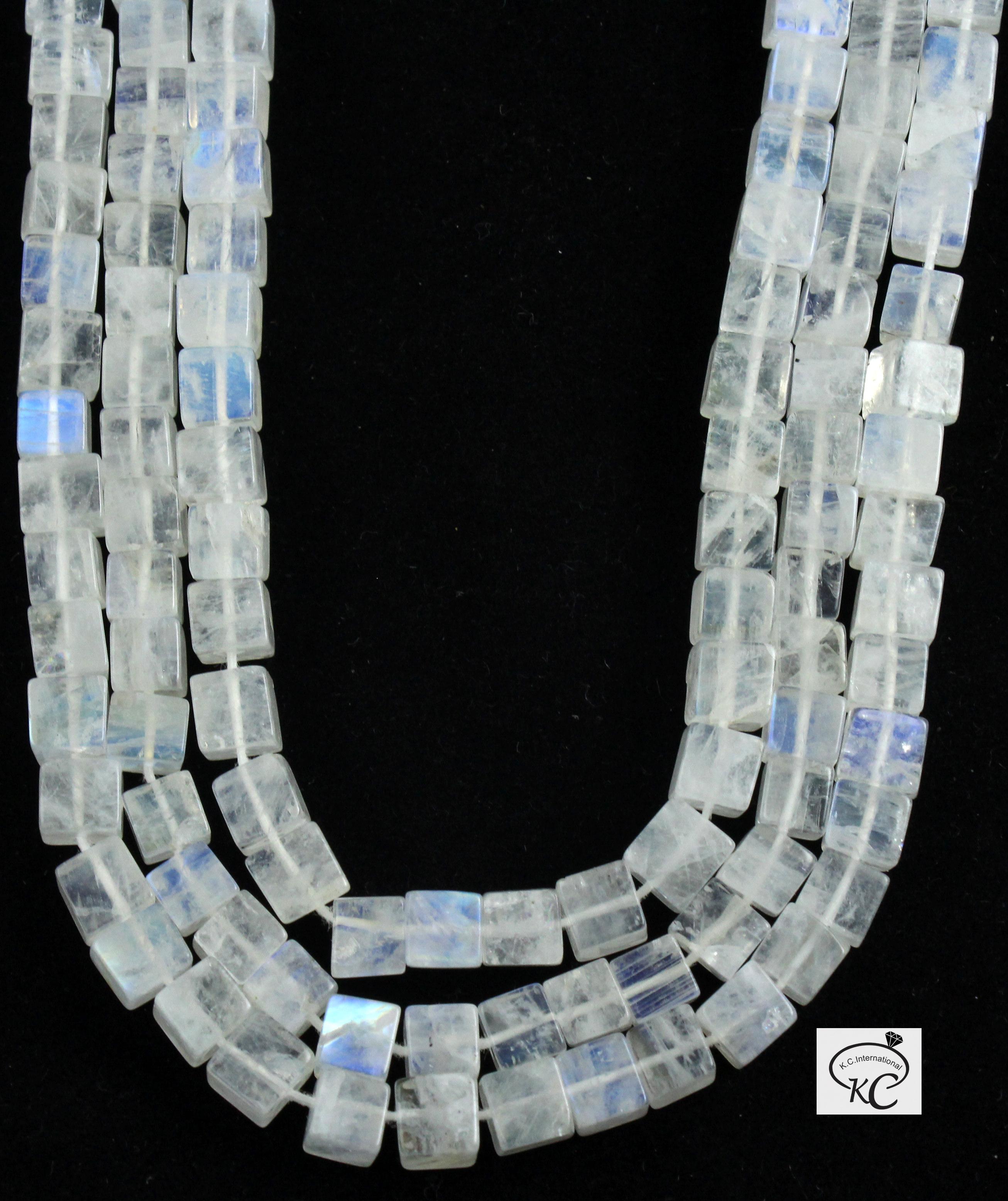 Rainbow Moonstone Box Beads