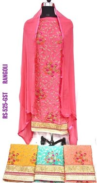 Ladies Rangoli Fabric Suit